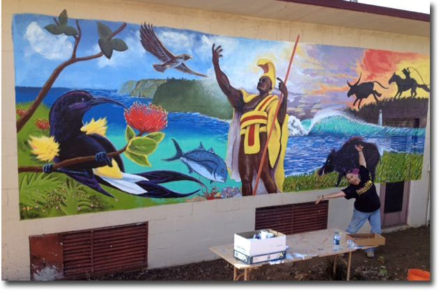 222 best images about hawaiian art on pinterest for Mural haiwan
