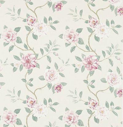 идеи для штор: портьерная ткань с цветочным принтом 223288 Sanderson