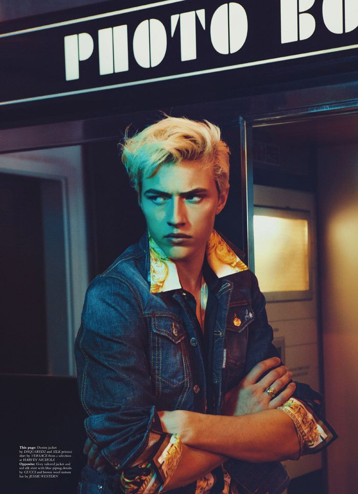 Lucky Blue Smith shot by Christian Oita and outfitted by Matthew Josephs, for the Fall/Winter 2015 coverstory of Wonderland magazine.