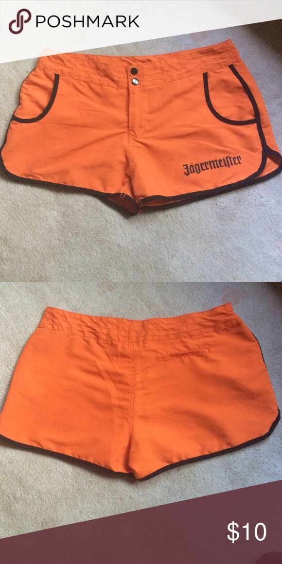 Jagermeister shorts Orange size medium shorts , women and washed a handful of times no rips or stains Shorts