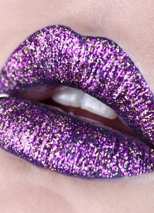 # Purple Glitter Lips