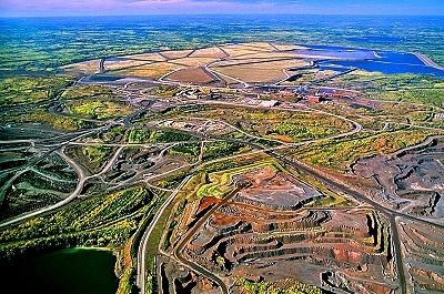 Aerial view of Iron Ore Pit, Mountain Iron, MN.    http://www.youtube.com/user/plmkasap