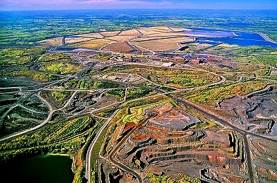 Aerial view of Iron Ore Pit, Mountain Iron, MN.    http://www.youtube.com/user/plmkasap