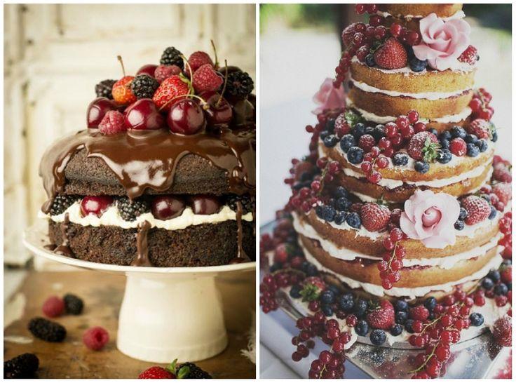 torta nuziale originale: la naked cake