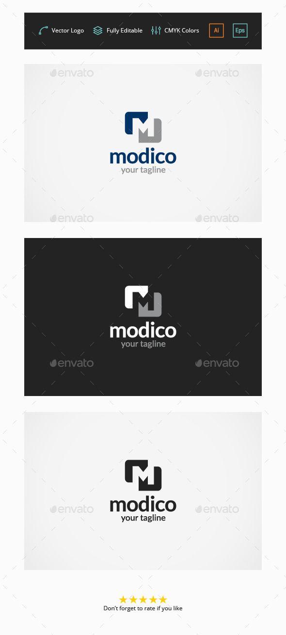 Modico M Letter - Logo Design Template Vector #logotype Download it here: http://graphicriver.net/item/modico-m-letter-logo/4613594?s_rank=10?ref=nexion