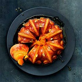 Clemengold Citrus Cake with Cardamom Syrup