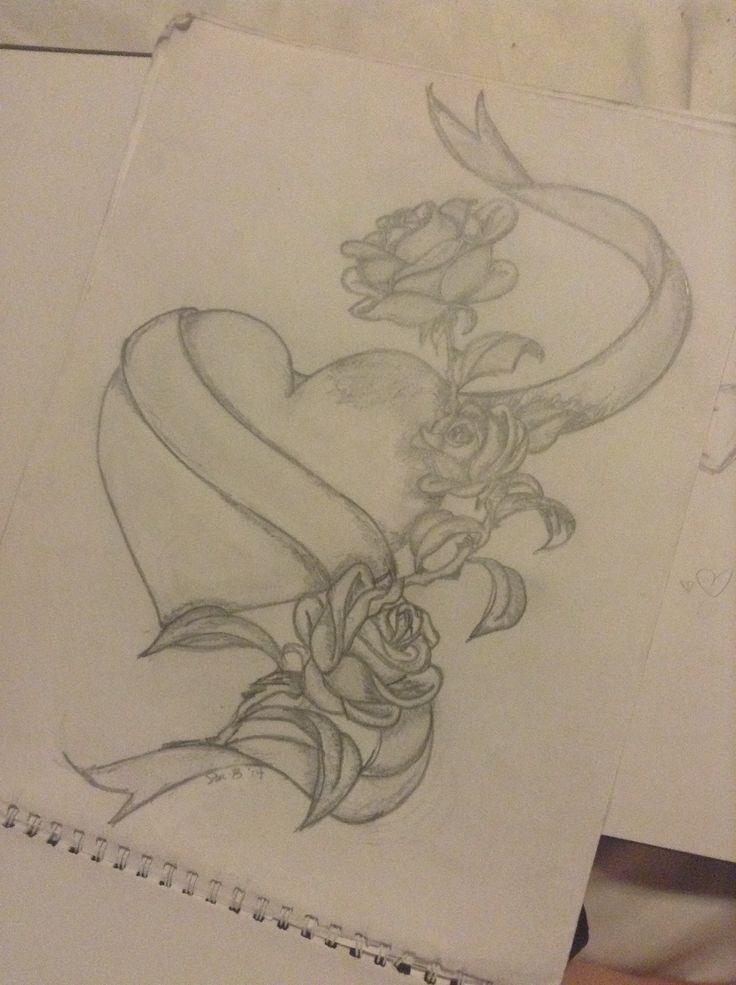 Heart w/ribbon & r...