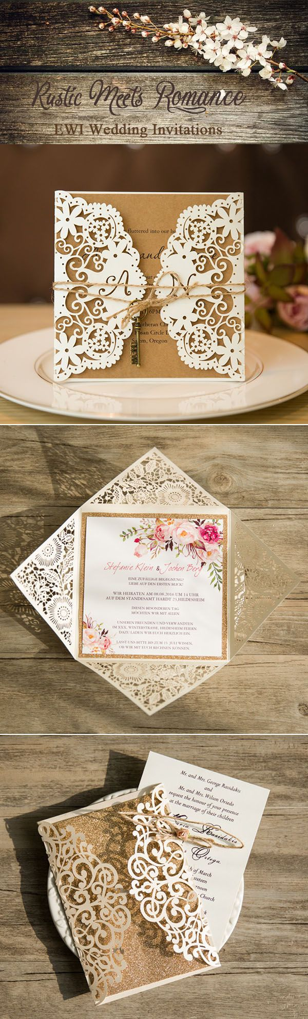 cheap and rustic wedding invitations as low as 094