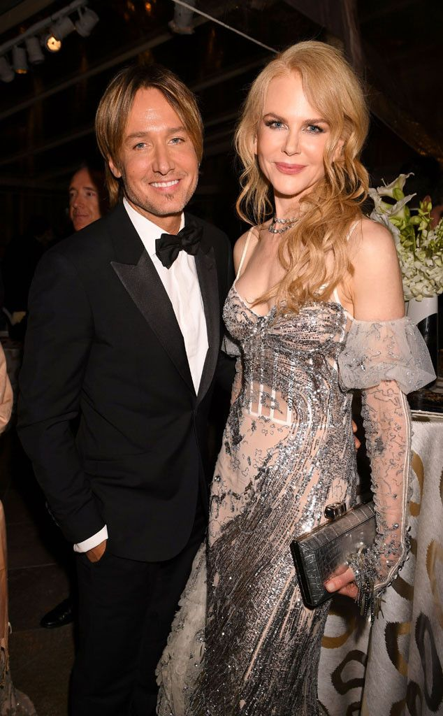 Keith Urban & Nicole Kidman from Golden Globes 2017 Party Pics  The Lion nominee and her famous husband smiled for cameras at the HBO after-party.