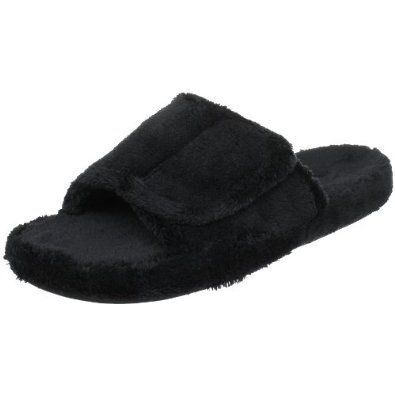 ACORN Men's Spa Slide ACORN. $27.80. Adjustable strap for fit and comfort. Fabric. Easy-care spa terry wraps the foot in comfort and style. Fully contoured footbed of molded CFC-free PU with enhanced heel and arch for ultimate long-wear comfort. Manmade sole. Non-slip weatherproof outsole for indoor/outdoor wear