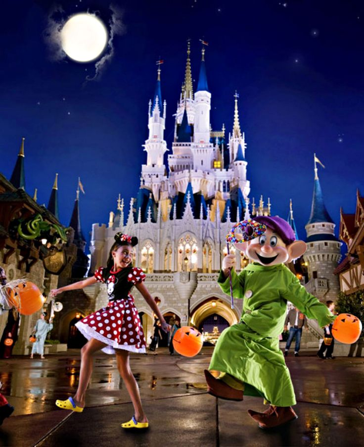 Trick-or-treat with all your Disney friends at Mickey's Not-So-Scary Halloween Party in Magic Kingdom Park.