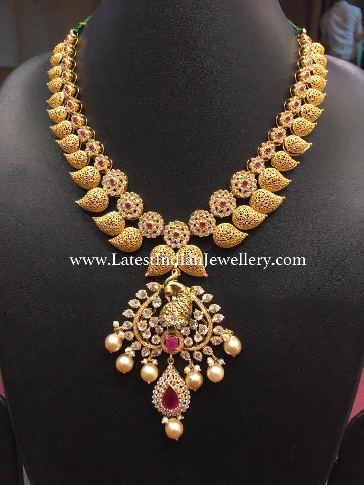 Filigree Mango Short Necklace