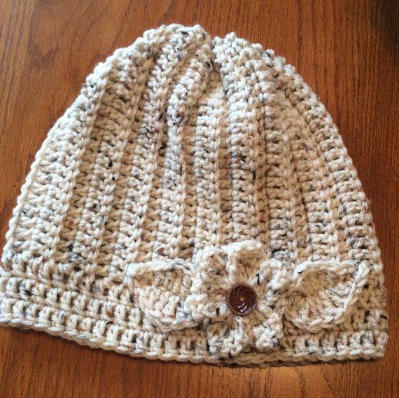 Lady's winter hat hand crochet snow hat beanie crochet