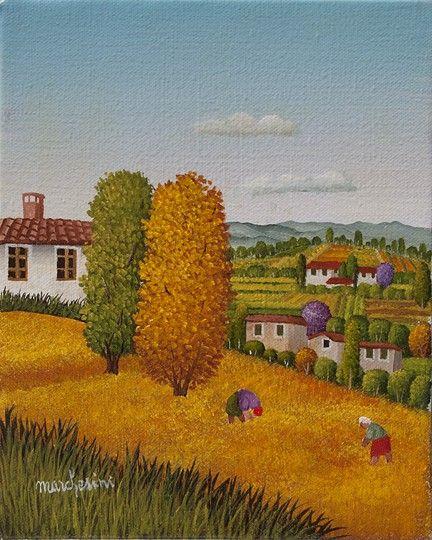 Paesaggio estivo  by Cesare Marchesini of Italy