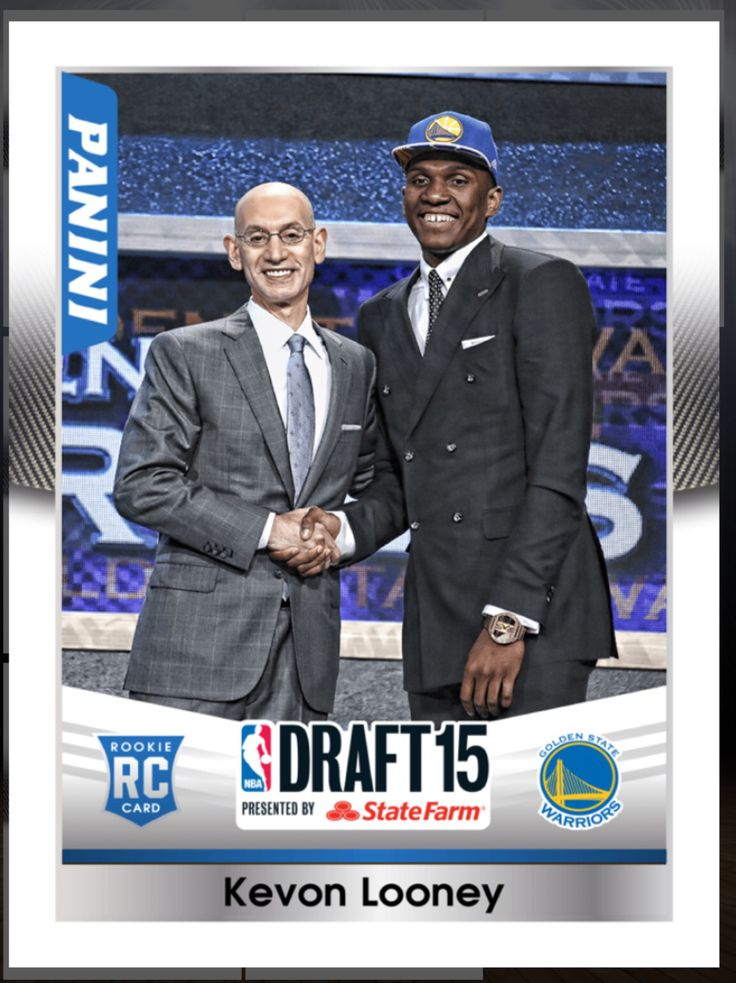 Kevon Looney (Rookie) Golden State Warriors Draft 2015 Insert Card 2015-2016 Panini Dunk