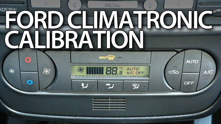 How to #calibrate #climatronic in #Ford #Fiesta MK6, Ford #Mondeo MK3 self-diagnostic #AC #cars
