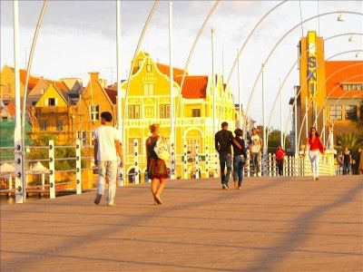 Willemstad Historic District Curacao Caribbean Island part of Netherland