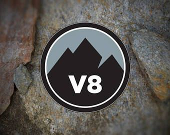Give your rock climbing/bouldering Dad or Grad bold decals and buttons to highlight climbs. Made from a durable vinyl with a laminate that protects from scratches, rain and sunlight. Stick it on your car, gear, water bottle or anywhere you want to show your support for the sport. MountainMarkers on Etsy.