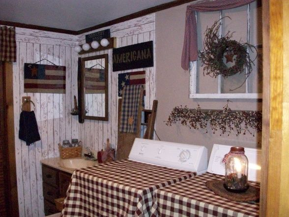 Primitive americana bathroom bathroom designs for Americana decoration