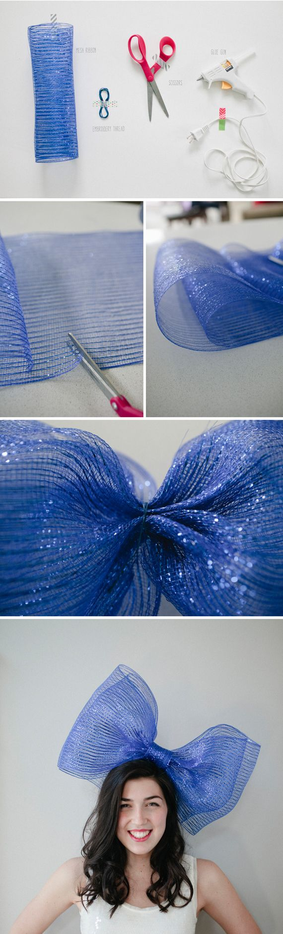 DIY bow party hat