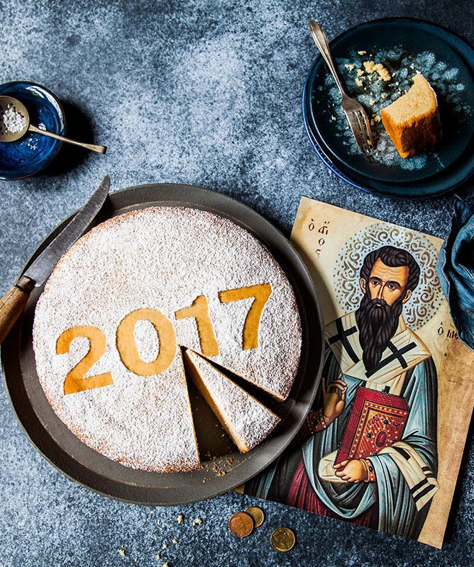 The coin in Vasilopita (St Basil's cake) brings luck for the year.