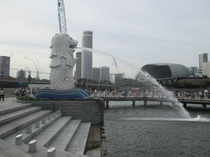 Der #Merlion, das Wahrzeichen von #Singapur #Singapore
