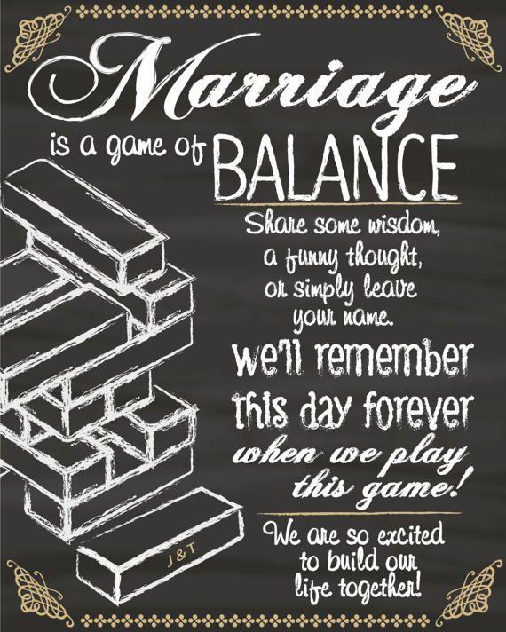 Signe de Jenga invité livre numérique pour le mariage ou de