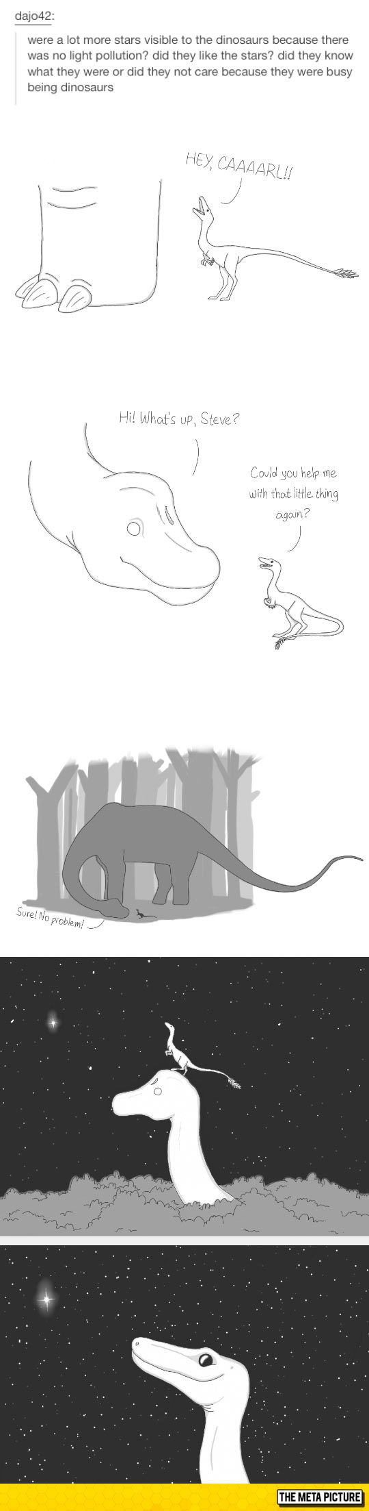 Dinosaurs And Stars> this bring me immense joy and a melted heart