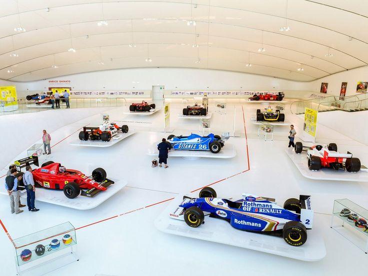 Formula 1 racing cars in the Museo Casa Enzo Ferrari, Modena, Emilia Romagna, Italy.