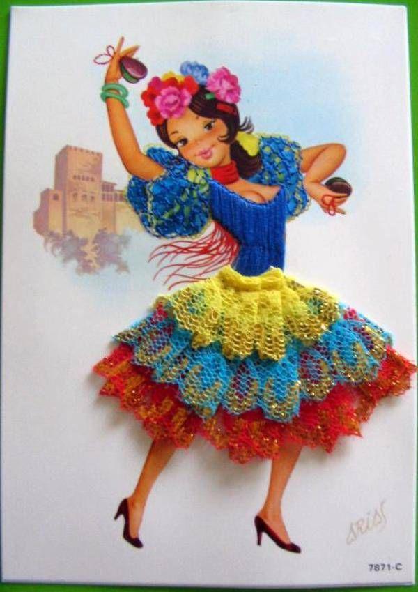 Открытка с фламенко