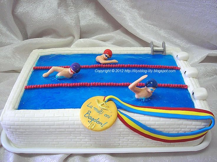 Swimming Pool Cake Ideas ll Swimming Pool Cake