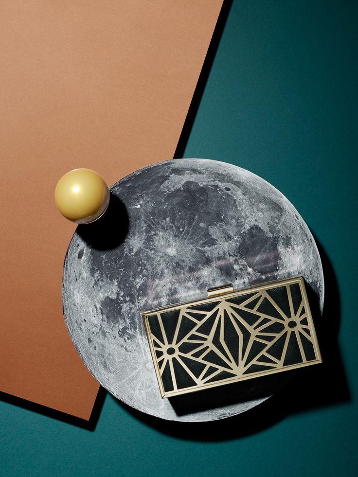 COSMIC STILL LIFE by Maciej Miloch / Clutch bag on the Moon