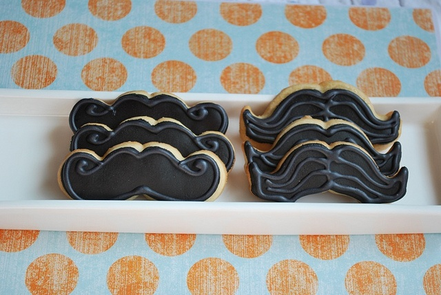 Mustache cookies by LittleSugarTops, via Flickr