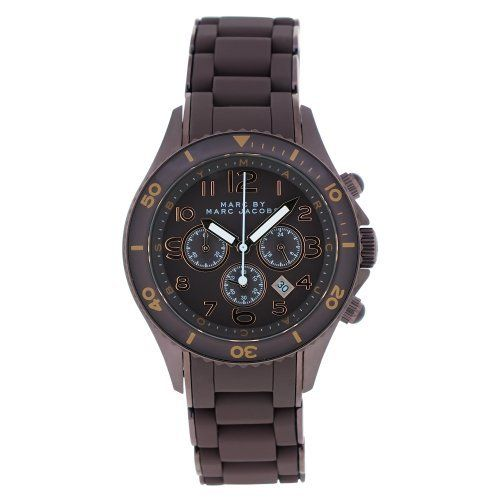 MARC By Marc Jacobs Brown Rock Watch Marc by Marc Jacobs. $219.00. Water Resistance : 5 ATM / 50 meters / 165 feet. Chronograph Display. Brown Steel Bracelet Strap. Save 27%!