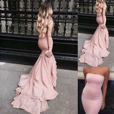Floor-length prom dress,2016 prom dress,straight prom dress,mermaid prom dress,elegant prom dress,pink prom dress, pd190075 http://foucsdress.storenvy.com/