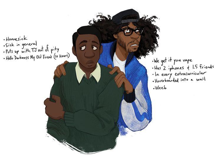 Brilliant. Hamilton cast as modern college students. (click through for all art)