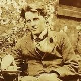 Rupert Brooke - 1st world war poet. HIs most famous poem The Soldier with it's evocative first line: 'If I should die, think only this of me;	    That there's some corner of a foreign field	  That is for ever England'.  and The Old Vicarage,  with it's memorable last line 'Deep meadows yet, for to forget The lies, and truths, and pain? . . . oh! yet Stands the Church clock at ten to three? And is there honey still for tea?'