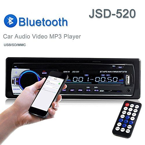 Car Stereo, Single Din Car Radio ,In-Dash Bluetooth Car Stereos Receiver MP3 Player /USB/SD Card/AUX/FM with Remote Control. For product info go to:  https://www.caraccessoriesonlinemarket.com/car-stereo-single-din-car-radio-in-dash-bluetooth-car-stereos-receiver-mp3-player-usb-sd-card-aux-fm-with-remote-control/