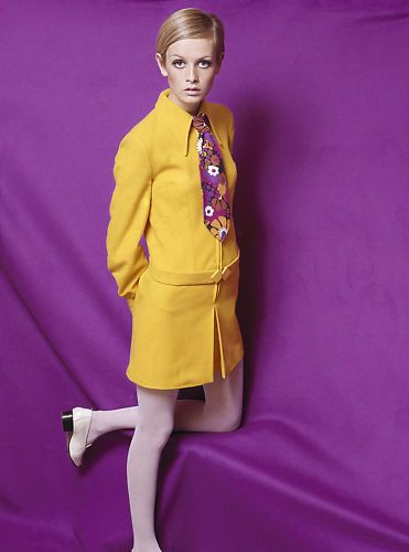 Twiggy wearing cutting-edge Mary Quant fashion in 1966