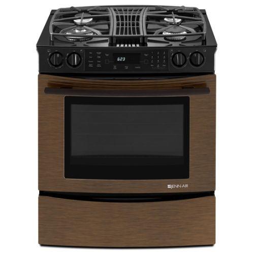 Bronze Kitchen Appliances: Gas Range Jenn Air Oiled Bronze Disc.