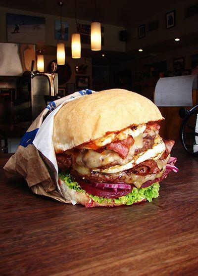 Traditional Fergburger in Queenstown, New Zealand c/o Departure.com's Top Burgers Around..., ,