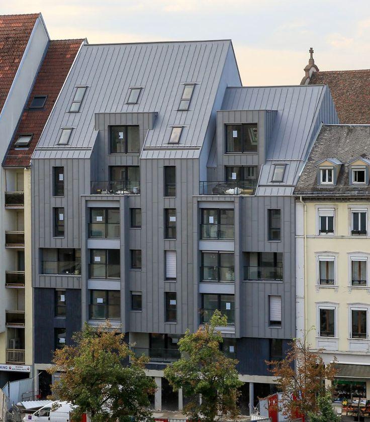 Collective Housing, Strasbourg (France) by JC Metz - Strasbourg  #QUARTZZINC #CollectiveHousing #Zinc #Architecture #Façade #VMZINC #France #QuartzZinc