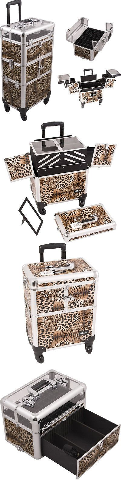 Rolling Makeup Cases: Makeup Storage Box Train Make Up Cosmetic Luggage Organizer Rolling Beauty Case -> BUY IT NOW ONLY: $219.99 on eBay!
