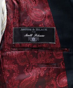 Personalized Nameplates: When you take the time to create something as personal as your Astor & Black suit, you'll want your name on it.