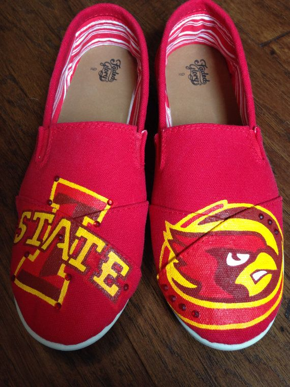 Hand Painted Custom Shoes- Iowa State University on Etsy, $75.00