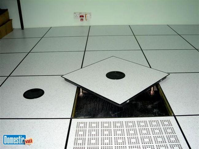 Floor Perforated Tiles Server Rooms : Raised floor access server