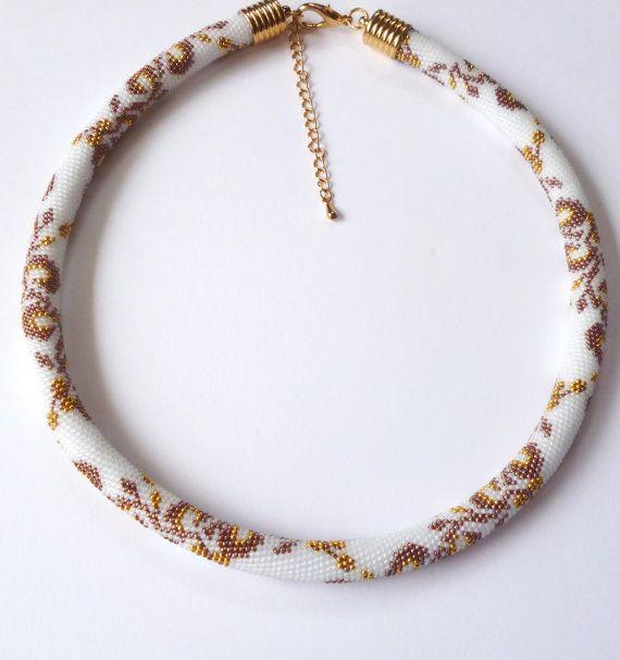 """Bead Crochet Necklace """" Anastasia"""""""