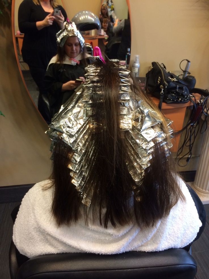 Foil Placement For Highlights Www Nataliethehairstylist