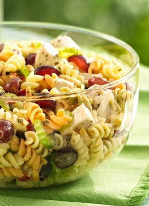 Recipe for Chicken Pasta Salad with Grapes and Poppy Seed Dressing ...