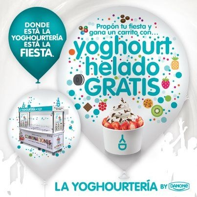Gana un carrito de Yoghourt helado Danone gratis
